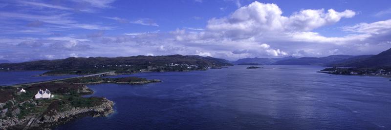 Eilean Bàn and Kyle of Loch Alsh